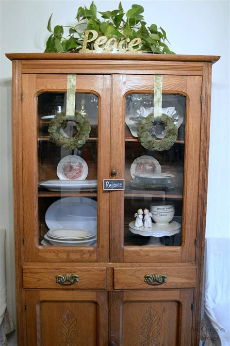 how to antique cabinets christmas decorating antique china cabinet