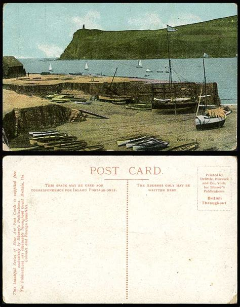 Boat Prices To Isle Of Man by Isle Of Man Old Colour Postcard Port Erin Harbour Sailing
