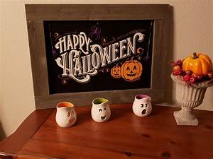 Fun Sign For Halloween Using Chalk Couture U0026 39 S Amazing