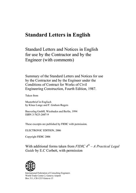 standard letters international federation  consulting