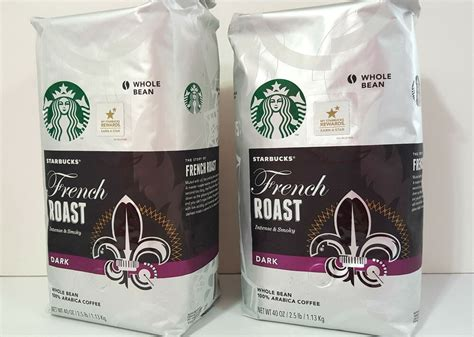 The question is quite logical as once i was curious about how come the starbucks maintains its supply chain. 2 bags STARBUCKS French ROAST Dark Whole Bean COFFEE 2.5 LB   eBay
