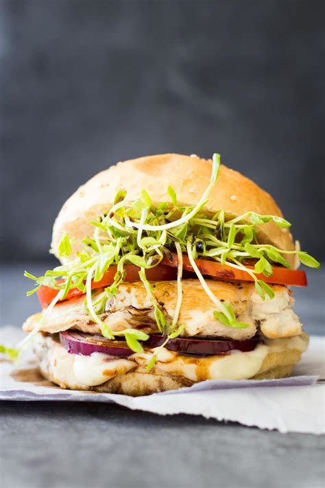 easy grilled chicken burger green healthy cooking