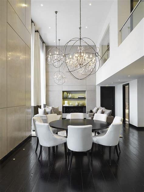 crystal chandeliers  dining room design