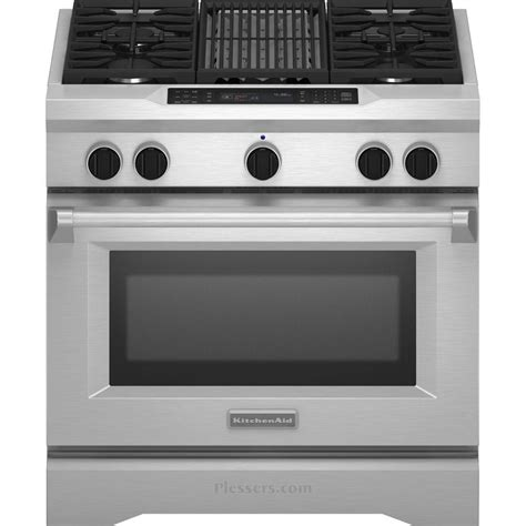 kitchenaid kdrsvss  commercial style dual fuel range   cu ft capacity  sealed