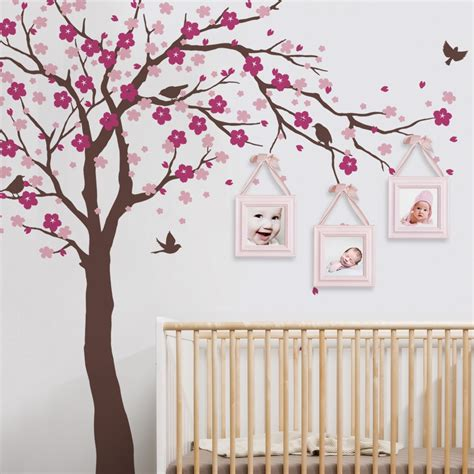 stickers deco chambre fille cherry blossom tree decal style