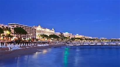 Cannes Beach Paradise Seafront Evening Resolution Screen