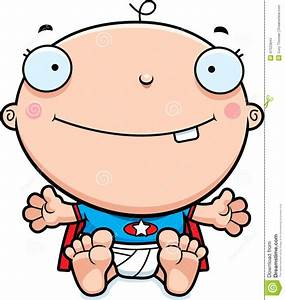 Cartoon Superhero Baby Smiling Stock Vector - Image: 47525844