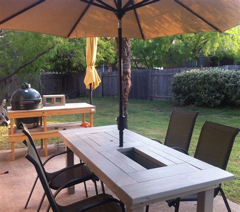 ana white patio table  built  beerwine coolers