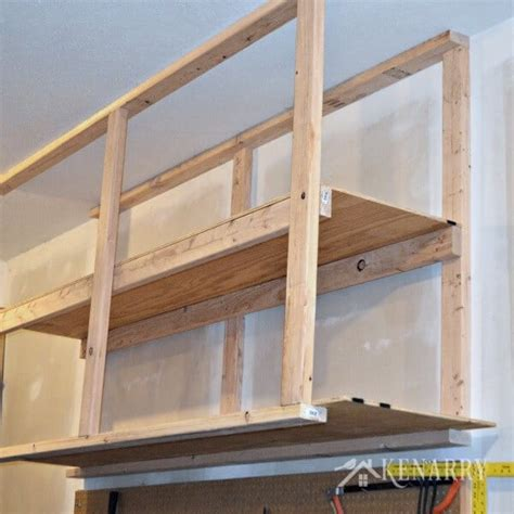how to build overhead garage storage rack how to make wood joints wood shelving designs