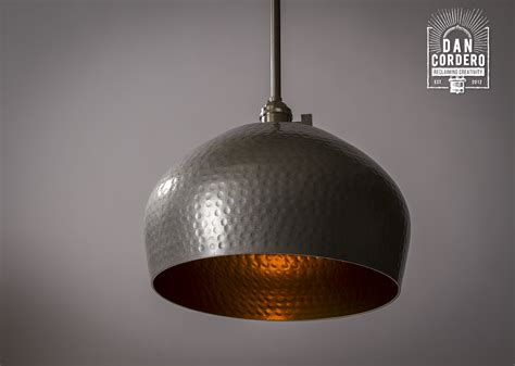 semi flush mount lighting hammered gold brushed nickel edison bulb pendant light