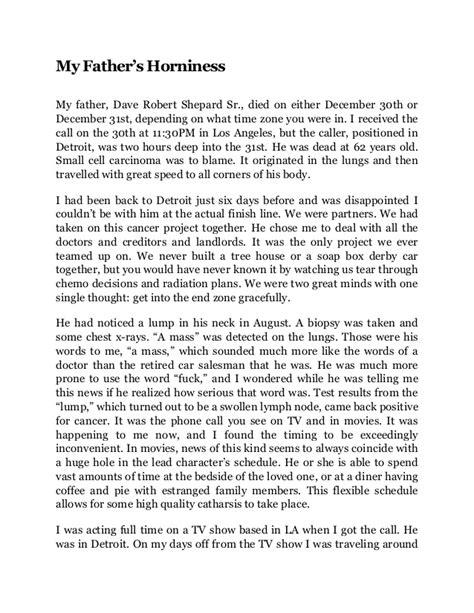 Story of my life narrative essay