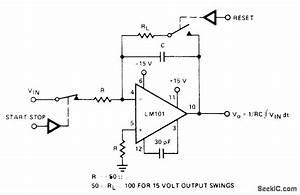 Analog Start Stop And Reset - Basic Circuit