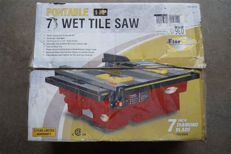 Florcraft Tile Saw With Stand 7 by Tile Saw Moorhead Liquidation November Consignment 9