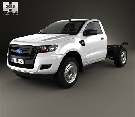 ford ranger single cab chassis xl 2015 3d model hum3d
