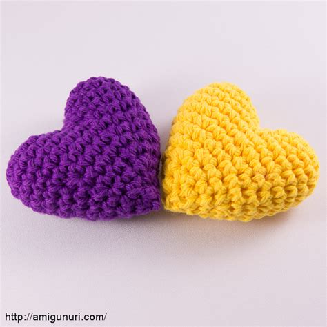 Purple And Yellow Hearts Amigunuri