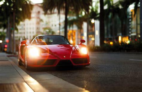 Car, Street, Palm Trees, Ferrari, Ferrari Enzo Wallpapers