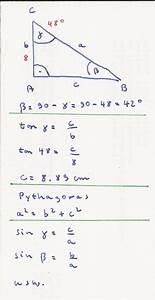 Rechtwinkliges Dreieck Berechnen Nur Eine Seite Gegeben : seiten berechnen an dem dreieck trigonometrie bitte erklaert es mir mathelounge ~ Themetempest.com Abrechnung