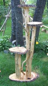 outdoor cat tree diy plant stand multi level plant stand made from fallen