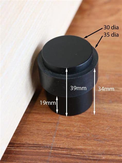 door stop matte black  floor mounted commercial  residential