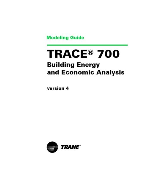 trace model guide hvac air conditioning