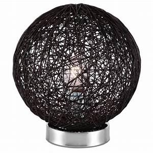Lampe Boule à Poser : baya lampe boule rotin diam 20xh24 achat vente baya ~ Dailycaller-alerts.com Idées de Décoration