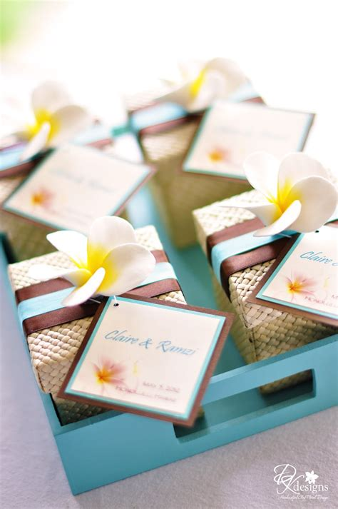 Wedding Favors by Dk Designs Destination Hawaii Wedding Favors