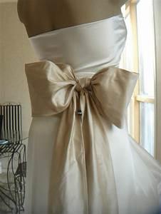 vintage style satin ribbon sash bridal wedding dress bow With girdle for wedding dress