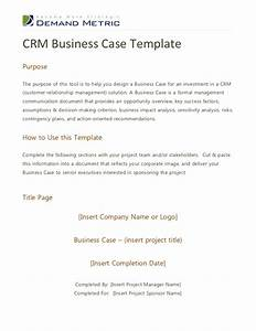 crm business case template With case for support template