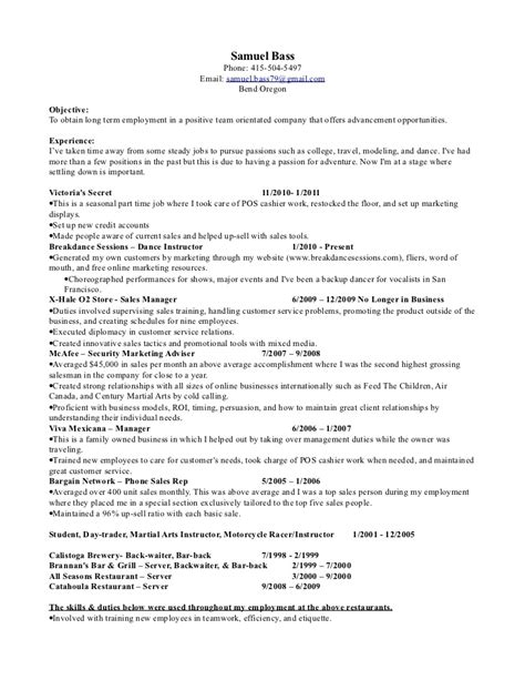bar back description resume bar server resume sle bestsellerbookdb