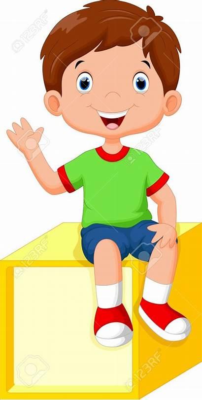 Sitting Boy Clipart Cartoon Kubus Een Boys