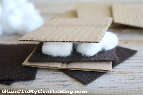 smores craft ideas pretend play smores busy bag idea glued to my crafts 2952