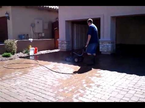 paver clean driveway cleaning with surface cleaner
