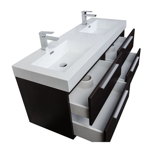 modern double sink vanity 54 quot modern double sink vanity set in espresso tn b1380 wg