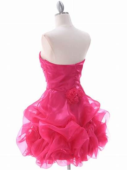 Pink Short Prom Cocktail Homecoming Skirt Ruched