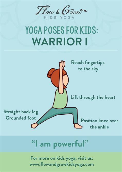 yoga poses  kids warrior  kids yoga poses yoga