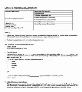 it support contract template 9 download documents in With monthly service contract template