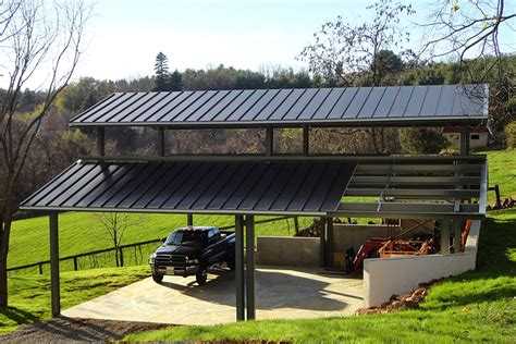 Metal Carport Roof by Metal Carports Covered Parking Roof Only Buildings