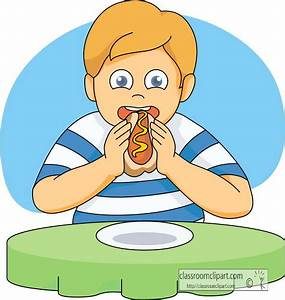 Boy Eating Clipart