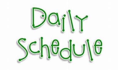 Schedule Clipart Class Daily Preschool Classroom Teacher