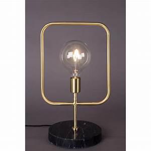 Lampe A Poser : lampe poser industrielle m tal et marbre cubo dutchbone ~ Nature-et-papiers.com Idées de Décoration