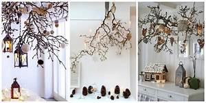 Branche De Bois Deco : inspiration diy des branches suspendues pour no l black confetti ~ Teatrodelosmanantiales.com Idées de Décoration