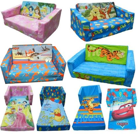 chaise en mousse pour bébé disney character childrens flip out foam sofa settee kid lounger bed seat ebay
