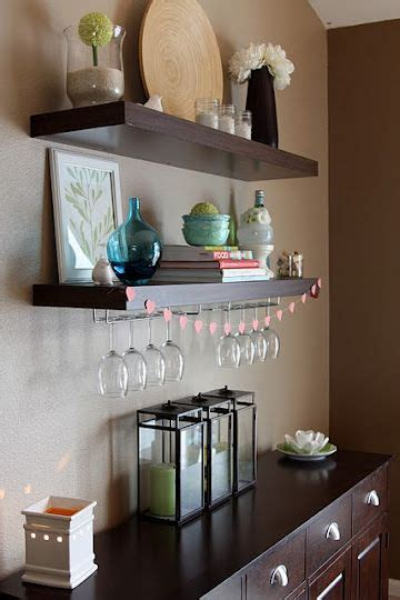floating shelves  buffet decor dining room storage
