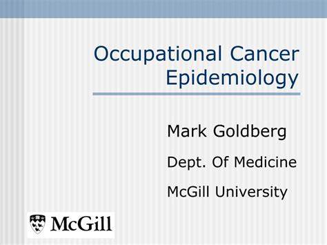 occupational cancer epidemiology powerpoint