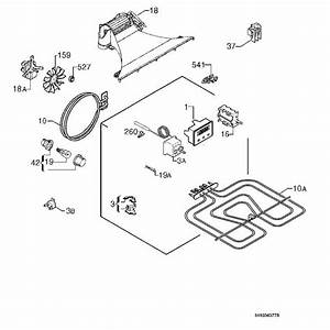 Zanussi Zob330w  94971289100  Oven Electrical Equipment Spare Parts Diagram