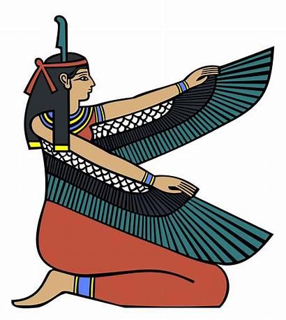 Maat Clipart Goddess Egyptian Egypt Ancient Ma