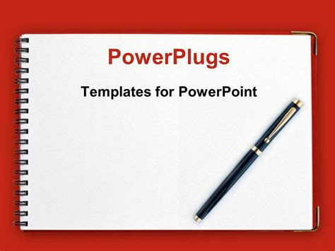 powerpoint template black   spiral notebook  red