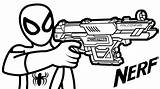 Nerf Gun Coloring Spiderman Drawing Boys Rifle Guns Printable Hold Sheet Sheets Coloringpagesfortoddlers Pistols Weapons Army Inspiration Gusto Unique Via sketch template