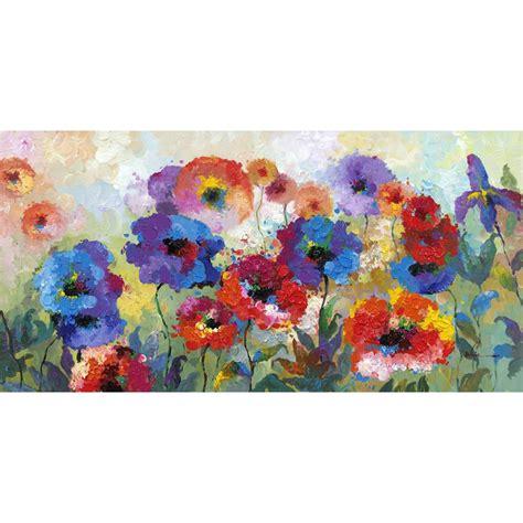 "Y Decor 31 In X 63 In ""flower Garden"" Hand Painted"