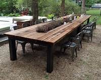 nice wood patio table Reclaimed wood Outdoor furniture | Rustic outdoor tables | Outdoor Table in 2019 | Rustic ...